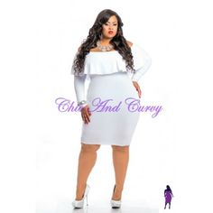 Outlet  Plus Size  .  Bodycon Off The Shoulder Short Dress In White 1X 2X 3X