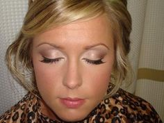 Wedding Makeup....soft and so pretty. I think I need to take my own makeup artist with me.
