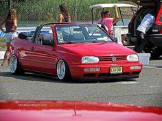 Waterfest 20 Slammed VW Golf Cabrio by Mind Over Motor, via Flickr