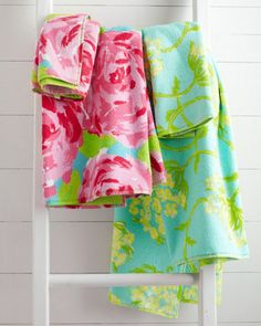Lilly Pulitzer® Sister Florals Towels, if only I was still in college... but I think these would look lovely in a Georgia home too!