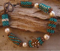 Peyote tube single strand bracelet