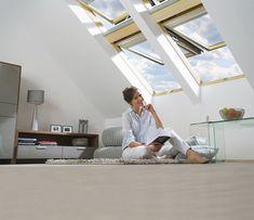 Vigyél életet a tetőtérbe a Fakro modern megoldásaival. Skylight Window, Roof Window, Attic Ladder, Window Replacement, Windows, Skylights, Google, Modern, Ladders