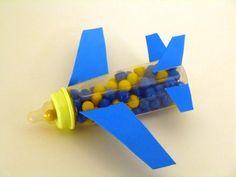 Baby shower bottle airplane decoration