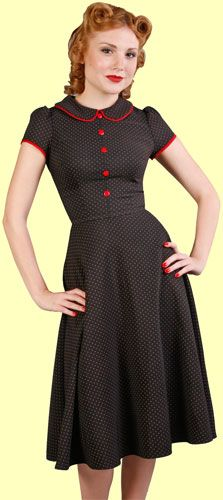 "Every mom had a dress pattern like this when I was a kid in the fifties. ""Peter Pan"" collar and ""Fabric covered"" buttons"""