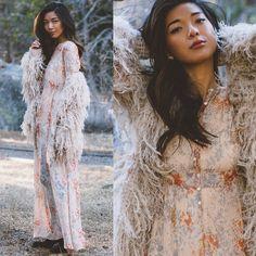 Get this look: http://lb.nu/look/7078272  More looks by Stephanie Liu: http://lb.nu/honeynsilk  Items in this look:  Free People Jacket, Free People Dress   #bohemian #elegant #romantic