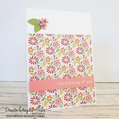 Im Thinking About You, Embossing Folder, Flourish, Stampin Up, Card Stock, About Me Blog, Bloom, Challenges, Paper Crafts