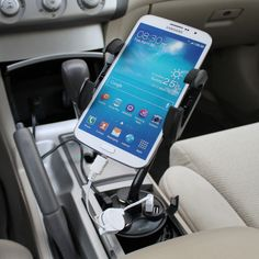 iKross | Car Cup Mount Holder with 3 Sockets and 2 USB Charging Port 2.1A (IKHD28)