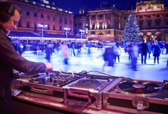 Christmas Skating in London - Ice Rink Somerset House