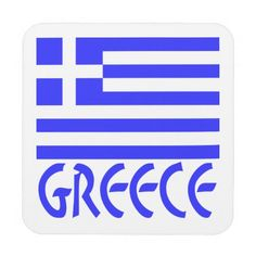 Greek Flag and Greece Beverage Coasters -- Design by @auntieshoe #GreekFlagCoasters for more designs using the flag of Greece visit http://www.zazzle.com/greekflaggear?rf=238656250999501047&tc=PinDrinkwareFoodware