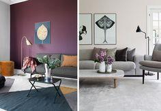 Vi elsker den grå sofaen fordi den passer til alt! Men det er klart den trenger litt spennende tilbehør for å skinne. Her er 8 forskjellige måter å style den på.