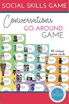 Social Skills 337136722096814511 - Practice conversation skills like taking turns, asking questions, and giving compliments with this fun game. Click through to check it out! Source by Social Skills Activities, Teaching Social Skills, Vocabulary Games, Play Therapy Activities, Mentor Program, Play Therapy Techniques, School Social Work, Speech And Language, Language Arts