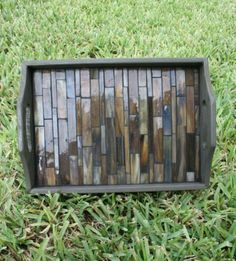 How to Make a Glass Tile Serving Tray - easy and super cheap!