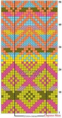 Полувер Фазан. Очень жизнерадостный оригинальный вырез горловины придает женственности, а жаккард, не только из лицевых, а еще и изнаночных петель, вдохновляет мастериц на новые подвиги! Tapestry Crochet Patterns, Crochet Wall Hangings, Fair Isle Knitting Patterns, Knitting Charts, Loom Patterns, Pixel Crochet, Knit Crochet, Cross Stitch Charts, Cross Stitch Patterns
