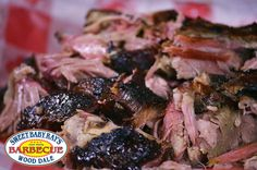 Sweet Baby Ray's Pulled Pork Plate.  Hickory smoked pork, handed pulled and lightly tossed with Sweet Baby Ray's then finished with our barbecue rub.