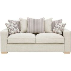 Sarina 3-Seater Fabric Sofa ($775) ❤ liked on Polyvore featuring home, furniture, sofas, fabric loveseat, low sofa, upholstery sofa, two person couch and upholstered sofa
