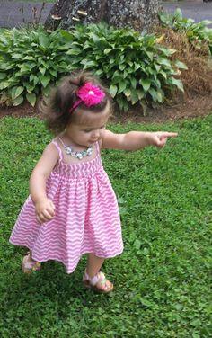 Baby Girl Pink Chevron SundressPulloverEasy by MYSWEETCHICKAPEA a49f3dba7
