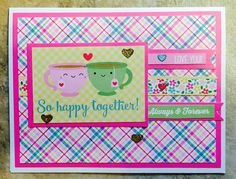 SSS February 2017 card kit of the month. This card was solely designed around a sheet of sentiment in the 6 x 6 paper pack. Haven't played with the stamp set, yet. so much fun! Thank you, Simon Says Stamp! (SSS)
