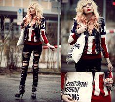 Souve  Bag, Modekungen Sweater, Secondhand Vest, Alexinn Cross Chain, Diy Jeans, Booties