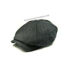 Comprobar Benn negro boina de lana ocasional masculina otoño sombreros y gorro de invierno