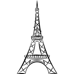Easy Drawing Of Eiffel Tower - At the top of the line draw a small square. Easy and beautiful eiffel tower drawing and sketches. New This Week March 12 2012 Eiffel Tower Drawing Eif. Eiffel Tower Drawing Easy, Eiffel Tower Painting, Decoupage Vintage, Silhouette Design, Silhouette Cameo, Eiffel Tower Silhouette, Eiffel Tower Tattoo, Paris Drawing, Paris Tattoo