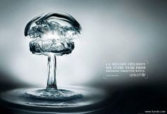 Great unicef anti water pollution poster.
