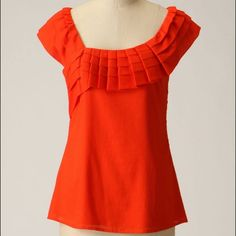 Anthropologie Yoana Baraschi Soft Drapes Blouse Size: 8. Length: Approximately 26 inches. Approximately 17 inches from armpit to armpit. A wreath of folded shadow striped cotton encircles Yoana Baraschi's elegant silhouette. Left side zipper. Lined. 100% Cotton. Anthropologie Tops