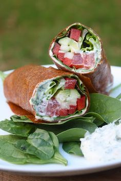 Food and Yoga for Life: Raw Ranch Veggie Wraps + Extra Dressings/Dips
