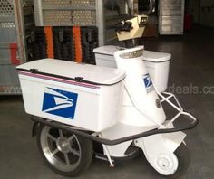 ELECTRIC TRIKE WITH TRAILER - GovDeals.com Electric Trike, Heavy Equipment, Post Office, Baby Strollers, Electric Tricycle, Baby Prams, Snail Mail, Prams, Strollers