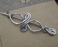 Celtic Infinity Loops Aluminum Shawl Pin Hair by nicholasandfelice, $22.00
