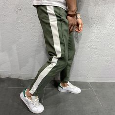 Back again with Premium Quality fabric! Our pants sold out in 1.5 weeks the first time. Be sure to get yours TODAY!  Jogger Pants Side Stripes - Khaki Regular price $54.99 USD Men With Street Style, Mens Sweatpants, Jogger Pants, Khaki Joggers, Modern Outfits, Casual Outfits, Skinny Fit, Streetwear Fashion, Istanbul
