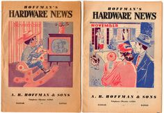 Hoffman's Hardware News Haddam Kansas 1950s Lot of 2 by vintagebarrel, $12.00
