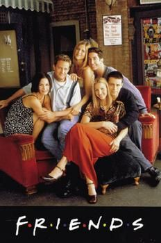 FRIENDS = FAVORITE TV SHOW <3 can't believe I have to wait until 11:00 every night to watch reruns on Nickelodeon!!!