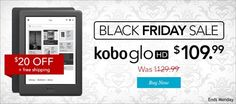 #Kobo Glo HD is $20 off for #CyberMonday15