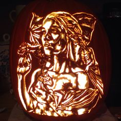 Daenerys - Mother of Dragons, Khaleesi, First of her name. Game of Thrones. Foam pumpkin, Stoneykins pattern. Carved by WynterSolstice