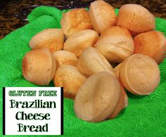 Gluten Free EASY Brazilian Cheese Bread Muffins Recipe!  Super YUMMY!!! Pão de queijo!