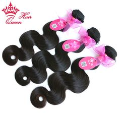 Queen Hair Products Brazilian Virgin Hair Body Wave Brazilian Hair Weave Bundles Unprocessed Human Hair Extension FAST SHIPPING * See this great product.