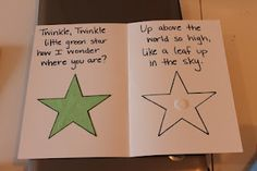 Twinkle Little Star Color Matching, can make different shapes too and change the words for each shape and come up with a corresponding item triangle/pizza, etc
