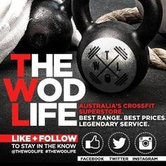 Keep up to date with The WOD Life on Facebook and Twitter! New gear dropping weekly!!! www.facebook.com/thewodlifeau and @THE WOD LIFE #crossfit #crossfit #crossfitcommunity #crossfitgames #crossfitaustralia #crossfitnz #twlcrew #thewodlife