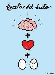 Cerebro, corazon y huevos