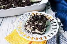 Oreo Dirt Pudding With Real Whipping Cream #Oreo #oreos #Dessert #dirt pudding #justapinchrecipes Frozen Desserts, No Bake Desserts, Easy Desserts, Delicious Desserts, Dessert Recipes, Icebox Desserts, Oreo Desserts, Creative Desserts, Sweet Desserts