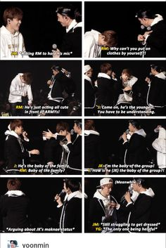 We all know that JM is the real life maknae here. Jungkook is by age, but Jimin is by apparience and actions.