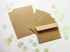 Lieschens Tipp für die Hochzeitseinladung: Briefumschläge aus Kraftpapier