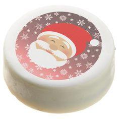 Christmas Santa Cartoon Stylish Beautiful Face Chocolate Covered Oreo - beautiful gift idea present diy cyo