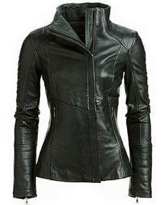 Womens Chicago Biker Leather Jacket ★ Motorcycle Jacket ★ Racer Jacket ★ 100% Genuine Lambskin Leather ★ YKK Zipper
