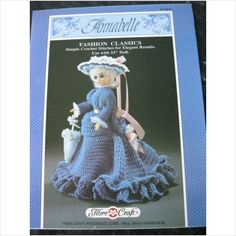 "Fibre Craft crochet Pattern FCM167 Annabelle dress & hat for 15"" doll 028444259419 on eBid United Kingdom  - 80p (3 avail)"
