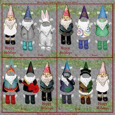 Dress Me Gnomes 2 Gift Tags fabric by karaskye on Spoonflower - custom fabric