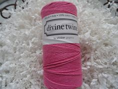 Divine Twine Pink Solid 15 Yards by LeCardShoppe on Etsy,