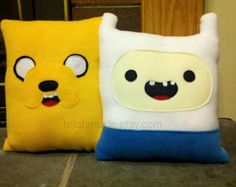 Adventure Time inspired pillow, Finn and Jake, Throw pillow , Beemo, Marceline