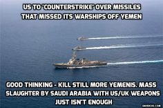 Pentagon vows to retaliate for attack on US warships off Yemen another BAY of TONKIN  -FALSE FLAG !