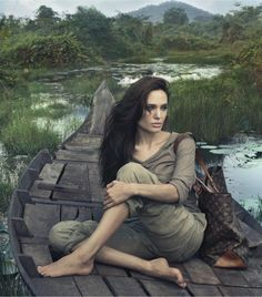 Angelina Jolie, Louis Vuitton, photography by Annie Leibovitz.